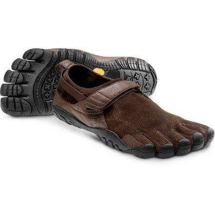 Vibram M241 Men's FiveFingers KSO Trek Kangaroo Leather Brown