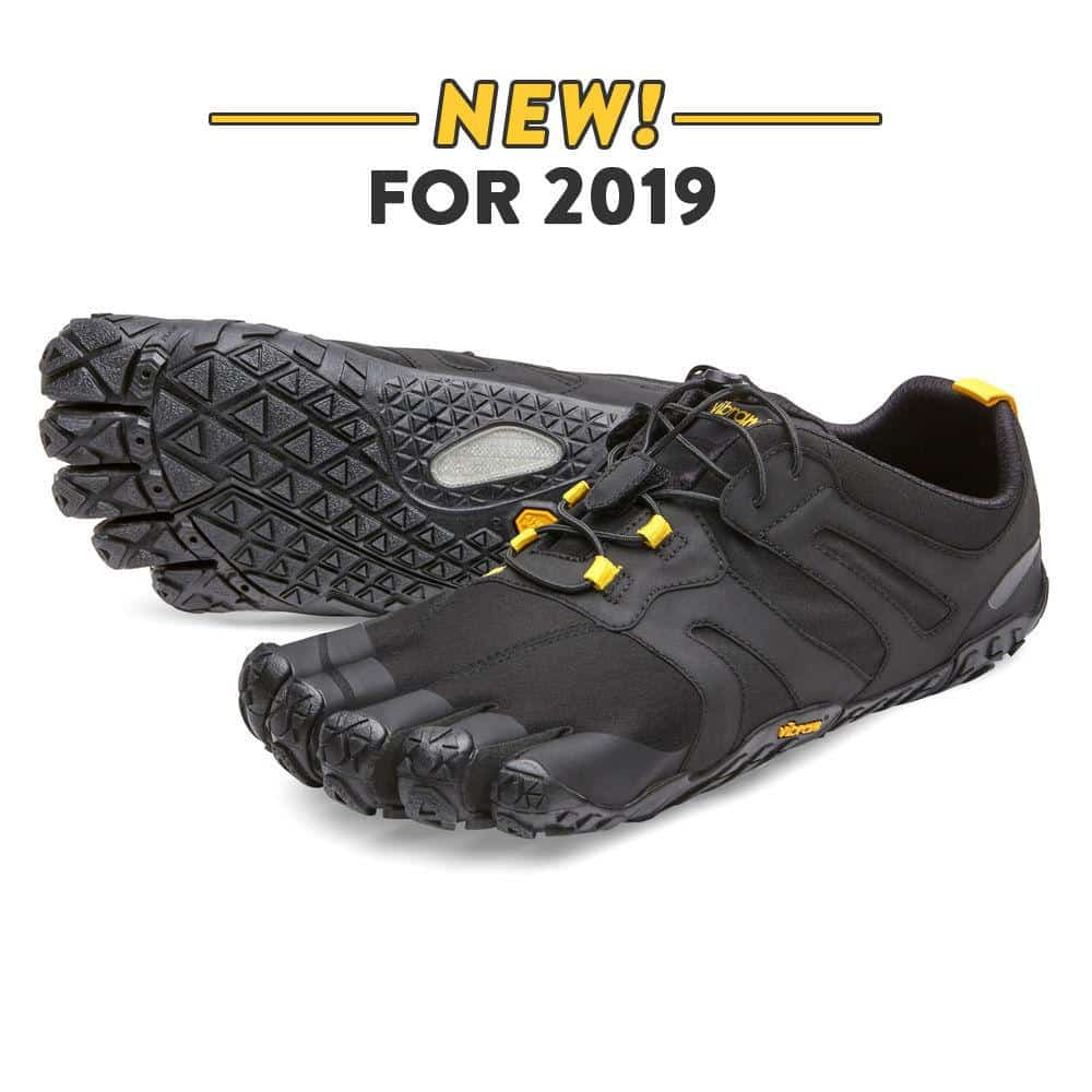 Mens V-Trail 2.0 running Black Vibram Fivefingers