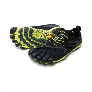 Mens V-Run Black & Yellow Vibram Fivefingers
