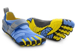 KMD Sport Blue / Yellow / Grey Womens Fitness Vibram Fivefingers