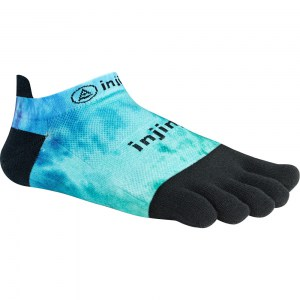Injinji Run 2.0 Lightweight Toe Socks (Blue/Green/Black)