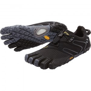 Mens V-Trail trail running Black Grey Vibram Fivefingers
