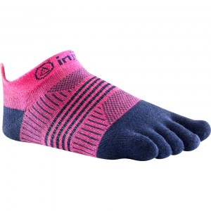 Women's Injinji Lightweight No Show Toe Socks (Navy/Pink)