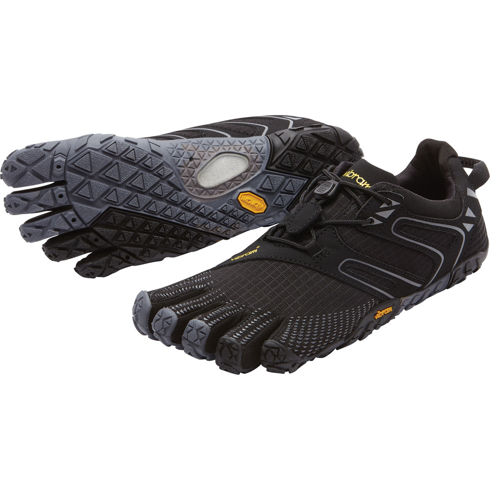 Womens V-Trail Black Grey Vibram Fivefingers